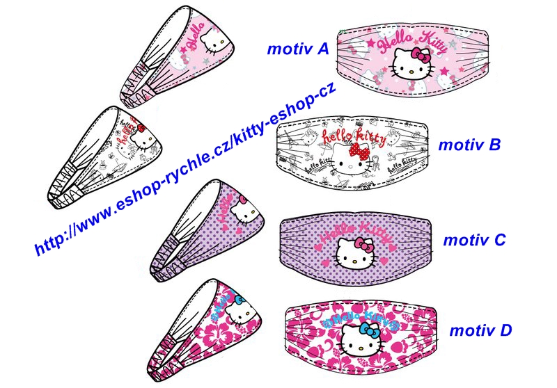 Čelenka Hello Kitty - motiv C